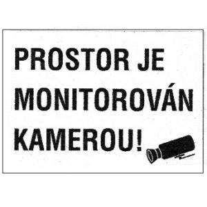 PROSTOR JE MONITOROVÁN KAMEROU