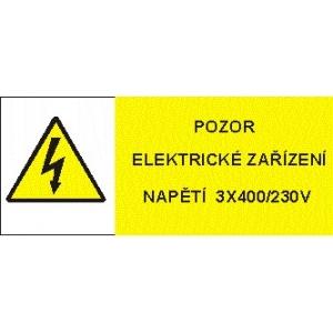 POZOR ELEKTRICKÉ ZAŘÍZENÍ NAPĚTÍ 3x400/230V
