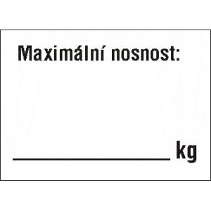 REGÁLOVÉ POPISOVACÍ SYSTÉMY : MAXIMÁLNÍ NOSNOST:     kg