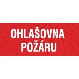 OHLAŠOVNA POŽÁRU NÁPIS