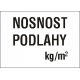 NOSNOST PODLAHY   kg/m2